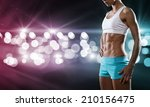 close up of sport woman in... | Shutterstock . vector #210156475