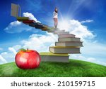 smiling student holding... | Shutterstock . vector #210159715