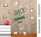 back to school message with... | Shutterstock . vector #210163297