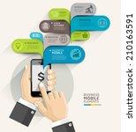 mobile business bubble speech... | Shutterstock .eps vector #210163591