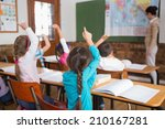 pupils listening to their... | Shutterstock . vector #210167281