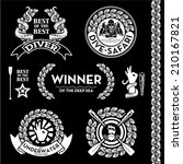 premium vector nautical crest labels for scuba diving fishing sailing yachting