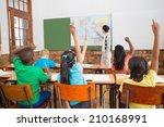 teacher giving a geography... | Shutterstock . vector #210168991