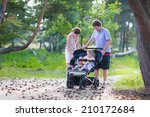 Active Family  Young Parents...
