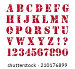 rubber stamp style alphabet.... | Shutterstock . vector #210176899