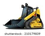 cartoon skid steer. availabe... | Shutterstock .eps vector #210179839