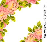 abstract flower background with ... | Shutterstock . vector #210185371