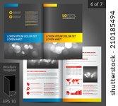 black classic vector brochure... | Shutterstock .eps vector #210185494