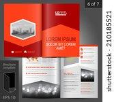 red business vector brochure... | Shutterstock .eps vector #210185521