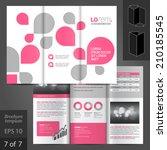 white vector brochure template... | Shutterstock .eps vector #210185545