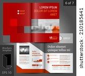 red business vector brochure... | Shutterstock .eps vector #210185641