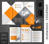 geometric business vector... | Shutterstock .eps vector #210185665