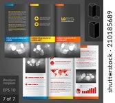 black classic vector brochure... | Shutterstock .eps vector #210185689