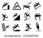 slippery icons | Shutterstock .eps vector #210185761
