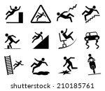 slippery icons | Shutterstock .eps vector #210185761