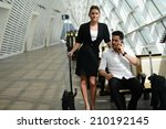beautiful young business people ... | Shutterstock . vector #210192145