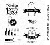 set of vector beer logos ... | Shutterstock .eps vector #210194521