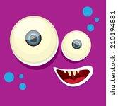 vector violet monster face | Shutterstock .eps vector #210194881