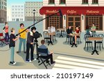 a vector illustration of movie... | Shutterstock .eps vector #210197149