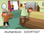 a vector illustration of kids... | Shutterstock .eps vector #210197167