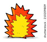 cartoon explosion | Shutterstock .eps vector #210209809