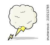 cartoon thundercloud symbol | Shutterstock .eps vector #210212785