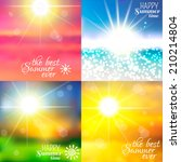 set of four backgrounds. sky... | Shutterstock .eps vector #210214804