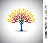 Colorful People Tree   Eco...