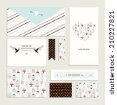 vintage collection of vector... | Shutterstock .eps vector #210227821