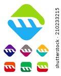 colorful design vector logo... | Shutterstock .eps vector #210233215