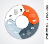 vector circle arrows for... | Shutterstock .eps vector #210233809