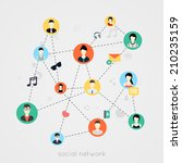 concept for social network  for ... | Shutterstock .eps vector #210235159