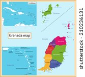 map of grenada drawn with high... | Shutterstock .eps vector #210236131
