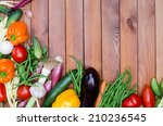 vegetables composition on... | Shutterstock . vector #210236545