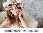 beauty woman portrait with... | Shutterstock . vector #210238387