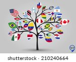 leaf flags of the american... | Shutterstock .eps vector #210240664