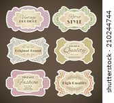 decorative vintage fashion high ... | Shutterstock .eps vector #210244744