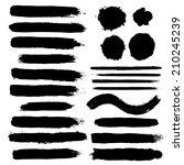 vector set of grunge brush... | Shutterstock .eps vector #210245239