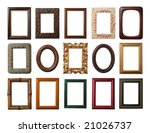 15 Different Frames Isolated O...