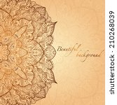 ornate vintage hand drawn gold... | Shutterstock .eps vector #210268039