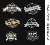 set of vintage labels  vector...   Shutterstock .eps vector #210274981