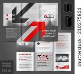 gray business vector brochure... | Shutterstock .eps vector #210275821