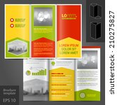 color business vector brochure... | Shutterstock .eps vector #210275827