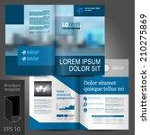 blue business vector brochure... | Shutterstock .eps vector #210275869