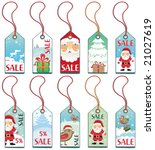 christmas holiday tags. to see... | Shutterstock .eps vector #21027619