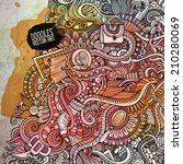 fashion watercolor cartoon...   Shutterstock .eps vector #210280069