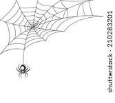poisonous spider web halloween... | Shutterstock .eps vector #210283201