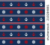 seamless pattern with nautical... | Shutterstock .eps vector #210284881