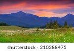 beautiful summer landscape in... | Shutterstock . vector #210288475