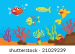 reef fish underwater... | Shutterstock . vector #21029239